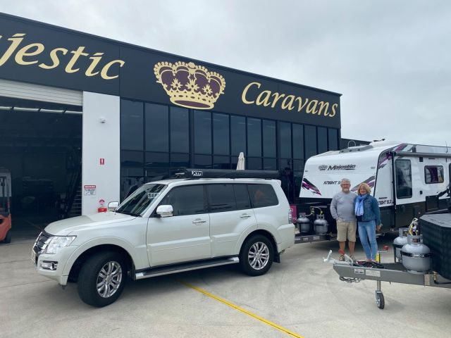 Congratulations to the Hollywood's on the purchase of your New Majestic Caravan, enjoy your travels.  #majesticcaravans #Caboolture #safetravel
